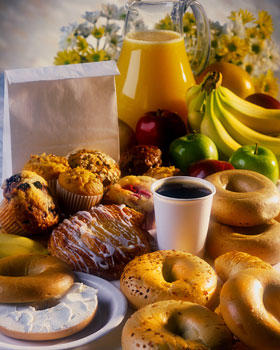 Breads, Fruits and Beverages